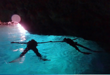 Blue cave snorkeling