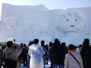 北海道雪祭, 大通公園, 小丸子, 冰雕