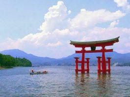 The shrine, House Island shrine, Torii