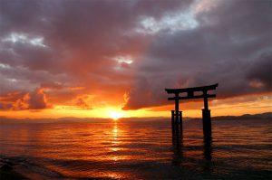 shrine, 神社, 水上鳥居