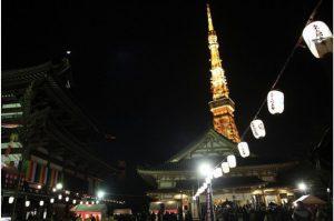 增上寺東京鐵塔前跨年