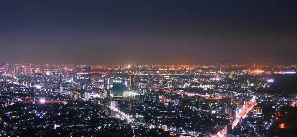 六甲山, 摩耶山, 神戶港塔, 神戶大橋, 日本三大夜景
