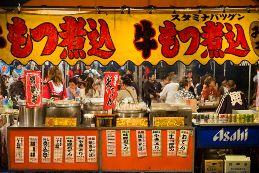 food booth at festival in Asakusa