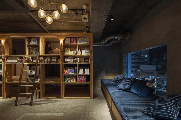guest house, hotel, tokyo, books, bookandbed