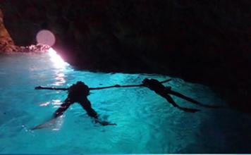Blue cave snorkeling