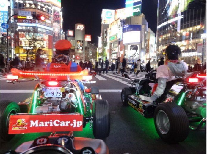 開著卡丁車游東京,开着卡丁车游东京,travel Tokyo by a maricar