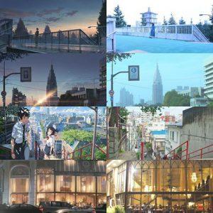 電影場景與現實對比,电影场景与现实对比,the comparison of between the scene in the movie and the real place