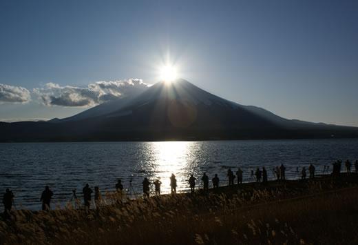 富士山. 鑽石富士,