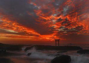 oaraiisosakijinja, shrine, torii