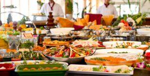 the buffet of the hotel,酒店自助餐,酒店自助餐